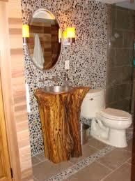 Log Vanity Custom Rustic Log Vanity Designed And Crafted Out Of A Cedar Log
