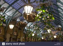 christmas lights in covent garden london uk stock photo royalty