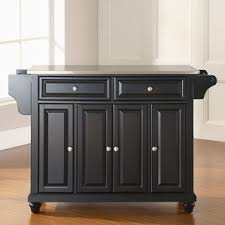 kitchen island cart with stainless steel top stainless steel kitchen islands carts you ll wayfair