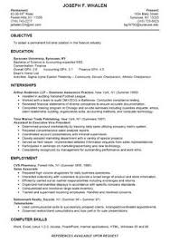 student resume example sample college internship samples students