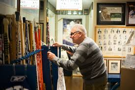 a maple leafs museum and man cave all in one basement the new