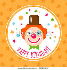 vector flat holiday background clown smile stock vector 383821207