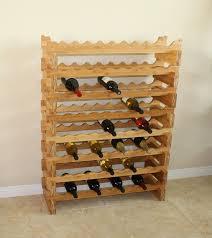 amazon com oceanstar 18 bottle stackable bamboo wine rack