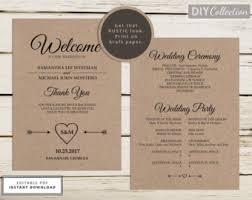 sided wedding programs sided program etsy