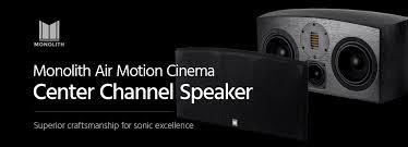 motion l wireless speaker monolith air motion cinema center channel speaker each monoprice com