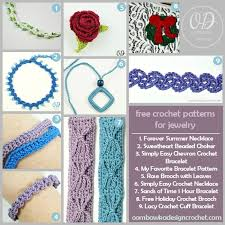 bracelet patterns free images Blasts from the past free crochet patterns jewelry oombawka jpg