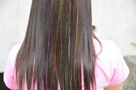 laser hair extensions 2017 hair tinsel laser hair extensions your own colors 40