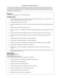 network engineer resume excellent resume sle resume exles sle resume for network