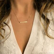 personalized bar necklace gold delicate necklace gold personalized from layered and