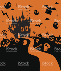 cute and cool halloween haunted house castle stock vector art