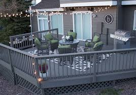 vintage porch deck with solid grey deck paint colors and round