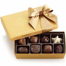 godiva gold ballotin chocolate truffle gift box 8 pc