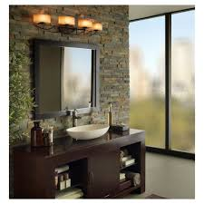 Bathroom Mirror Light Fixtures by Bathroom Above Mirror Lighting Quanta Lighting