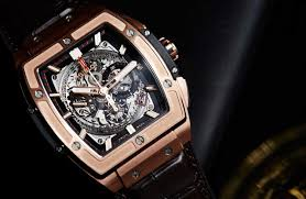 golden ferrari with diamonds best quality swiss replica watches hublot big bang fake