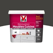peinture meuble cuisine castorama peinture de rénovation meubles cuisine v33 gris zingué satiné 0 75l