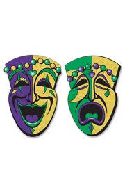 jumbo mardi gras a pair of paper comedy and tragedy mardi gras faces mardi gras