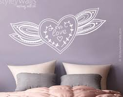 Heart Wall Stickers For Bedrooms Heart Wall Sticker Etsy