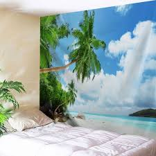 beach scenic wall hanging tapestry bedroom decor colormix w inch