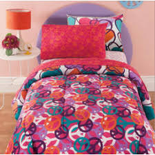 Girls Peace Sign Bedding by Peace Sign Bedding Sets