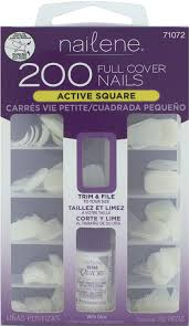 amazon com nailene full cover nail 200 count false nails beauty