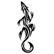 lizard tribal tatto graphic design vector free download