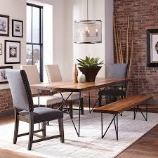 natural wood dining room tables shop dining tables at lowes com
