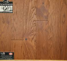 Old Laminate Flooring Pioneered Solid Wire Brushed Hickory Old Mission Boardwalk