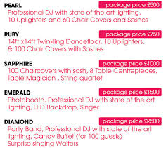 wedding package deals rumour weddings venue dressing package deals