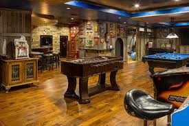 basement game room ideas family room traditional with wood paneled
