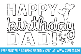 birthday card simple printable birthday card for dad happy