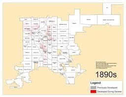 Maps Denver Denver U0027s Single Family Homes By Decade 1890s U2013 Denverurbanism Blog