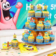 spongebob birthday cake spongebob fondant cake how to cake cupcake ideas spongebob