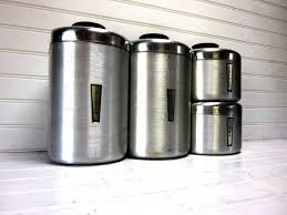 stylish stainless steel canisters