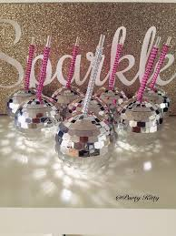 Disco Favors by Disco Tumbler Drink Cup W Custom Bling Straw