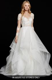 hayley bridal hayley elysia sleeve lace tulle ballgown nordstrom