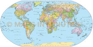 Map Scales Digital Vector World Map Robinson Projection Political Uk