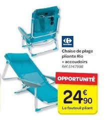 sieges de plage carrefour promotion chaise de plage pliante accoudoirs