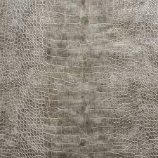 chrome gray reptile skin texture vinyl upholstery fabric