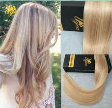 Blonde Weft Hair Extensions by Balayaga Remy Honey Blonde Skin Weft Seamless Pu Tape In Human