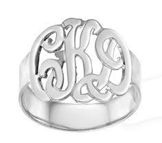 Monogramed Rings Hey I Found This Really Awesome Etsy Listing At Https Www Etsy