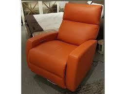 Orange Leather Swivel Chair American Leather Elliot Recliner