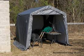Canopy Storage Shelter by Shelterlogic 10x12 Peak Style Shelter 8 U0027 Tall 72813 72814