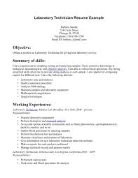 lab technician resume resume templates