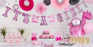 Pink Safari Baby Shower Decorations