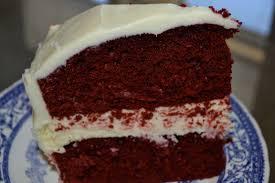 red velvet cheesecake cake a slice of bri