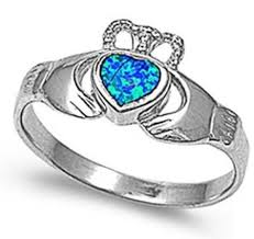 blue opal engagement rings blue opal engagement ring engagement rings