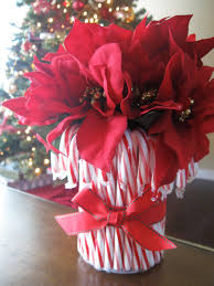 diy candy cane vase poinsettia candy canes and holidays