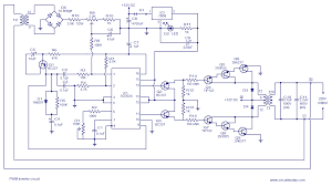 pwm inverter circuit based on sg3524 12v input 220v output 250w