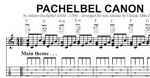 the u201cpachelbel canon u201d arranged for solo ukulele by ukulele mike
