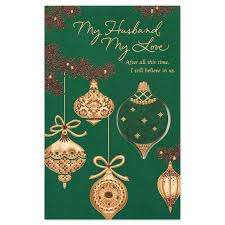 american greetings ornaments card for husband with